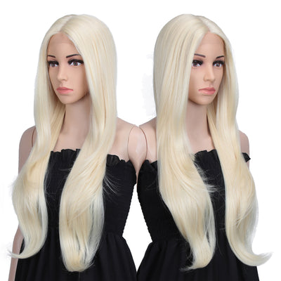 "Cida丨Synthetic 6"" Middle Part Lace Front Wigs丨31 Inch long straight Luvme Blonde Wig - Noblehair"