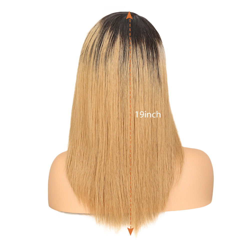 Pre-Colored Human Hair Yaki Straight丨4 Mixed Colors