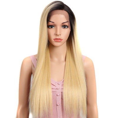 Quinn丨4*4 Synthetic Lace Wigs丨27 Inch Long Straight Wig like human hair丨Honey Blonde by Noble - Noblehair