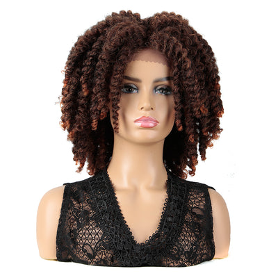 Synthetic Lace Front Dreadlock Wig for Black Women |12.5 inch Passion Twist Brown Wig - Noblehair