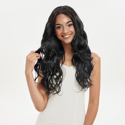Easy 360 Synthetic Lace Front Wig| 29 Inch Loose Wave | Black Color | Arika by Noble - Noblehair