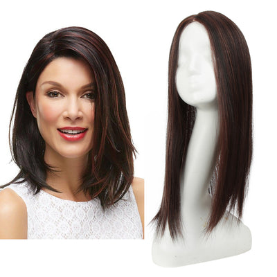 Synthetic Clip in Hair Topper | Silica gel Lace Top Hair Pieces|#TTP4-33 Hair Toupee - Noblehair