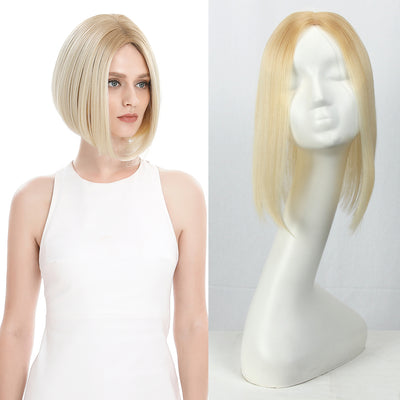 Synthetic Clip in Hair Topper | Silica gel Lace Top Hair Pieces|#TT24/613 Hair Toupee - Noblehair