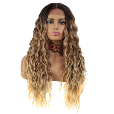 Easy 360 Synthetic HD Lace Frontal Wig | 28 Inch Long Curly Beach Blonde Wig| Sophisticate - Noblehair