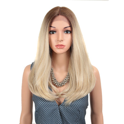 NOBLE Synthetic Lace Front Wig | 19 Inch Straight Lob |   Ashy Platinum  | ADA - Noblehair