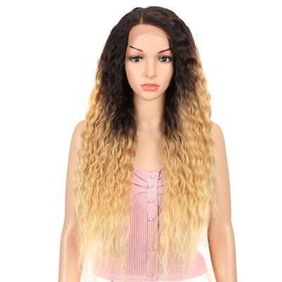 Easy 360 Synthetic Lace Front Wig | 29 Inch Curly Wave | Ombre Blonde | Aurora by Noble - Noblehair