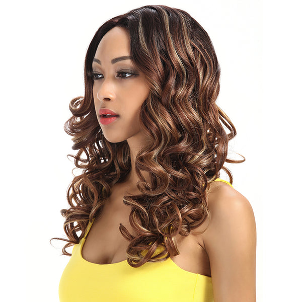 Betty丨Synthetic Lace Front Wigs For Women丨22 Inch Wave Curls