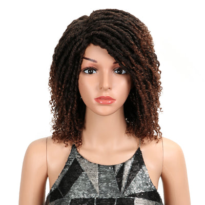 Synthetic Afro Wigs For Black Women | 13 Inch Dreadlocks Ombre Blonde Wig | Diana by Noble - Noblehair