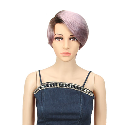 NOBLE Human Hair Lace Wig | 9 Inch Short Straight Bob | Light Purple | R Scarlett - Noblehair