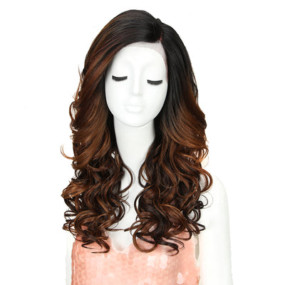 Synthetic Lace Front Wig | 22 Inch Tousled Wave | Brownish Red |H Helen by Noble - Noblehair