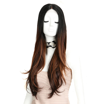Cida | Synthetic Lace Front Straight Wig (Middle Part) | 31 Inch | HL227144 - Noblehair