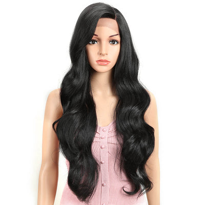 MEG丨Synthetic Lace Front Wigs for Women丨28 Inch Long Loose Wave Wig丨1B by Noble - Noblehair