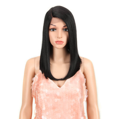 Natalie丨Synthetic Lace Wig (Part Lace)14 Inch丨1B - Noblehair