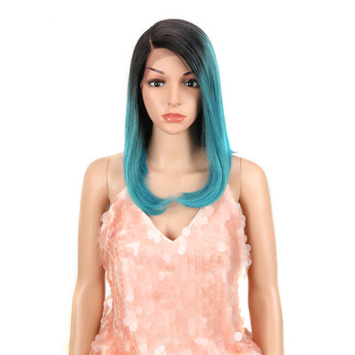 Natalie丨Synthetic Lace Wig (Part Lace)14 Inch丨TT4/AQUA - Noblehair