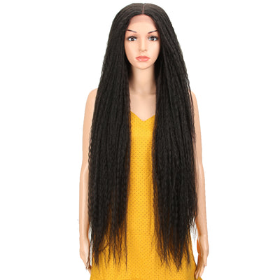 Synthetic Lace Front Wig | 38 Inch Long Dreadlocks | Black Color | Maxin by Noble - Noblehair