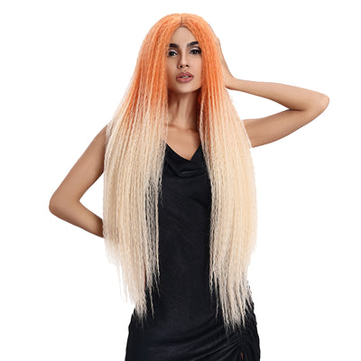 Synthetic Lace Front Wig | 38 Inch Long Dreadlocks | TT Orange | Maxin by Noble - Noblehair