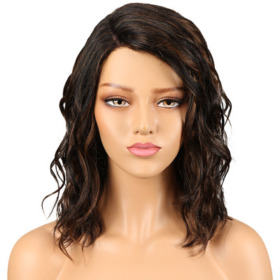 Human Hair Lace Wig | 14 Inch Curly Lob | Mixed Color | Christy by Noble - Noblehair