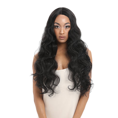 NOBLE Synthetic Lace Front Wigs For Women | 29 Inch Long Wave Black Wig | Samira - Noblehair