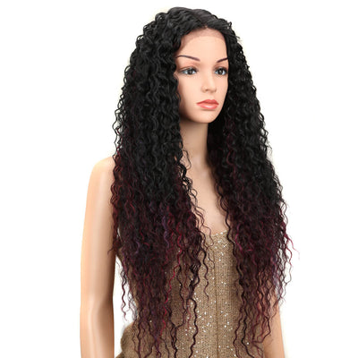Kelly丨Synthetic Lace Front Wig丨31 Inch Energetic Spring Curly Wig丨Dark Red by Noble - Noblehair