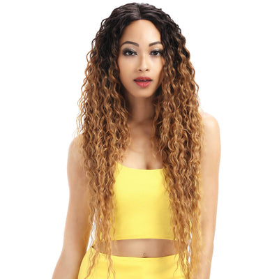 Kelly丨Synthetic Lace Front Wig丨31 Inch Energetic Spring Small Curly Wig丨Golden Blonde by Noble - Noblehair