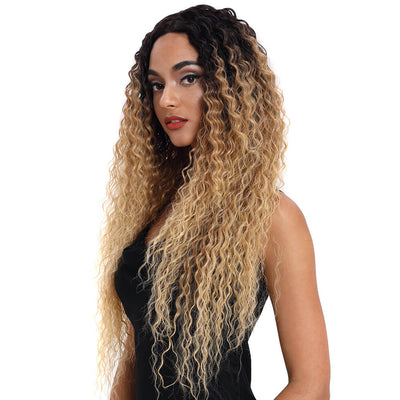 Kelly丨Synthetic Lace Front Wig丨31 Inch Energetic Spring Small Curly Wig丨Ombre Blonde by Noble - Noblehair