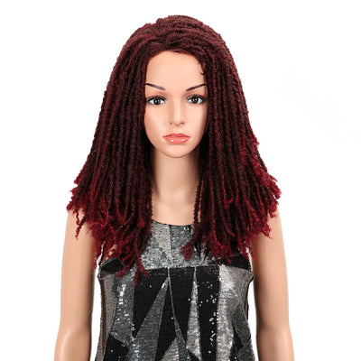 Synthetic Afro Wigs For Black Women | 22 Inch  Dreadlocks Wine Red Wig | Dominic by Noble - Noblehair