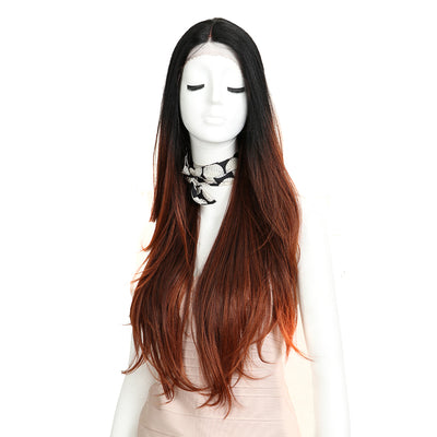 Cida | Synthetic Lace Front Straight Wig (Middle Part) | 31 Inch | TAT1B-33D-130E - Noblehair