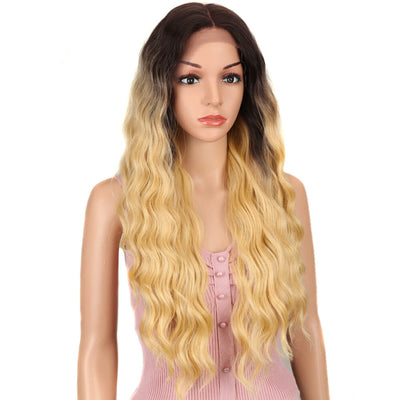 Lotte | Synthetic 4*4 Lace Frontal Wig | 28 Inch long Wave Wigs|  Honey Blonde by Noble - Noblehair