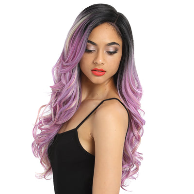 Synthetic Lace Front Wig | 22 Inch Tousled Wave | Lavender Pink | H Helen by Noble - Noblehair