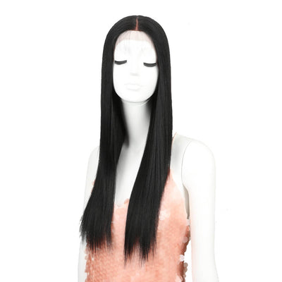 Headline丨Synthetic Lace Wig like human hair丨26 Inch Classic Straight丨1 - Noblehair