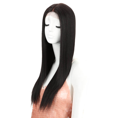 Headline丨Synthetic Lace Wig like human hair丨26 Inch Classic Straight丨2 - Noblehair