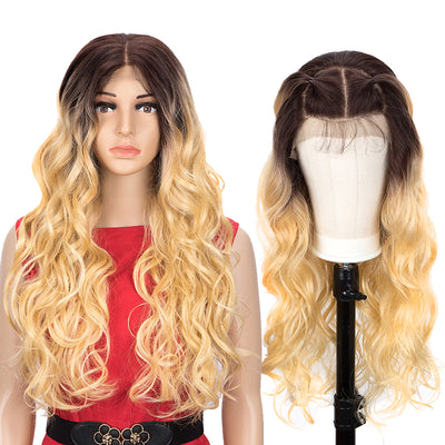 Easy 360 Synthetic Lace Front Wig | 28 Inch Body Wave |  Ombre Blonde |Grace by Noble - Noblehair