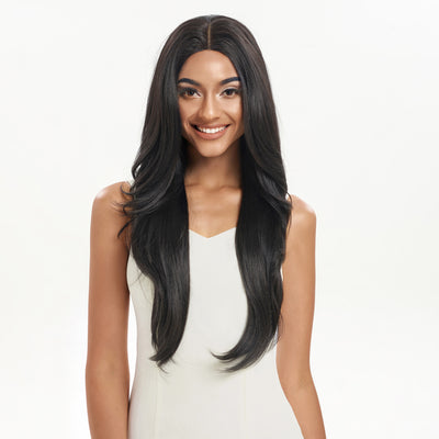NOBLE Easy 360 Synthetic Lace Front Wig | 28 Inch Long Straight | Natural Black| Agatha - Noblehair