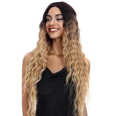 Gianna丨Synthetic Lace Front Wigs For Black Women丨31 Inch Long Wavy丨Beach blond by Noble - Noblehair