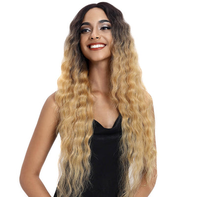 Gianna丨Synthetic Lace Front Wigs For Black Women丨31 Inch Long Wavy丨Ombre blond by Noble - Noblehair