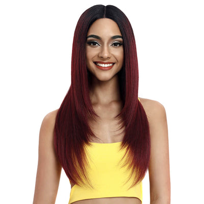 Beyonce丨Synthetic Lace Front Wig Middle Part丨24 Inch Classic Straight丨TT1B/530 - Noblehair