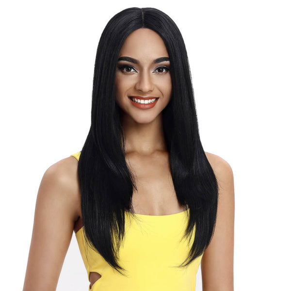 Beyonce丨Synthetic Lace Front Wig Middle Part丨24 Inch Classic Straight