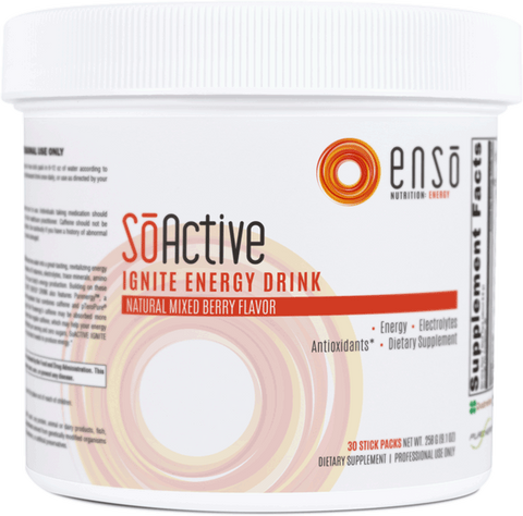 SoActive Ignite Energy Drink Mixed Berry 30 Stick Pack