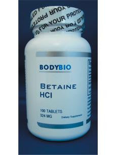 Betaine HCl 324 mg 100 tabs