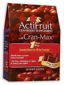 ActiFruit™ with Cran-Max® 20 chew
