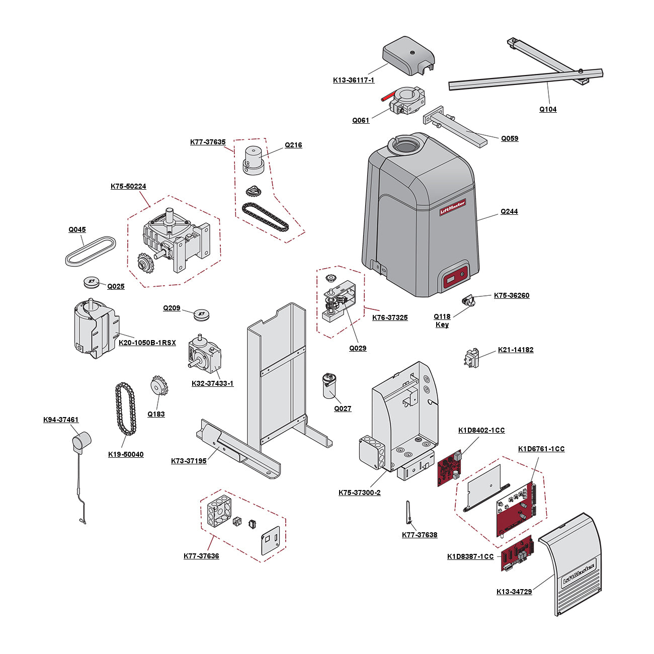 Liftmaster CSW200-UL Parts Diagram