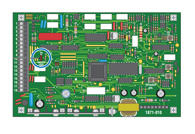 Doorking 1812 Circuit Board