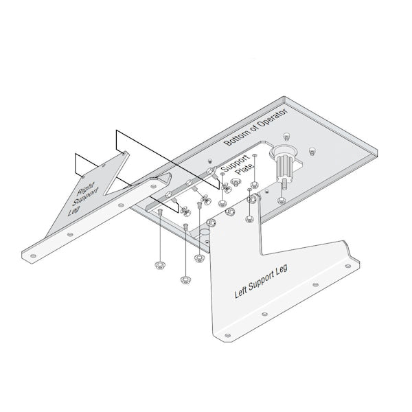 DOORKING 2600-364 PAD MOUNT KIT