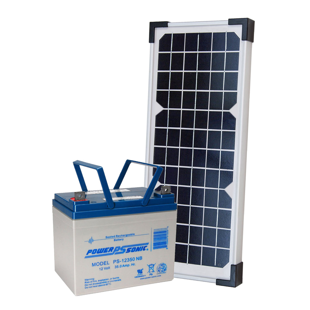 LIFTMASTER 20W33A SOLAR KIT WITH A LARGE BATTERY