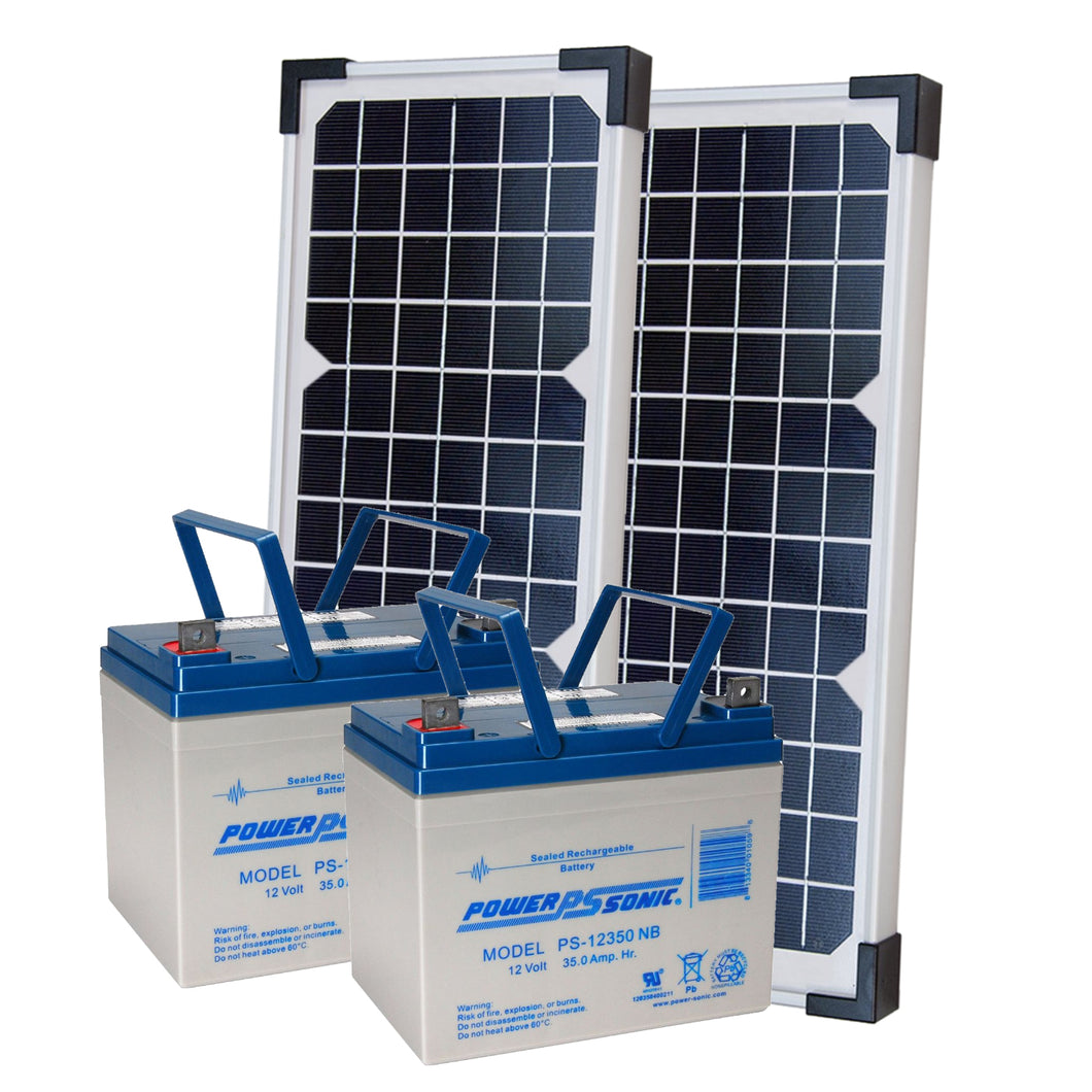 LIFTMASTER 40W33A SOLAR KIT WITH LARGE BATTERIES