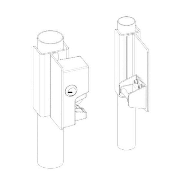 Securitron FMK-SL Mounting Bracket Slide Gates