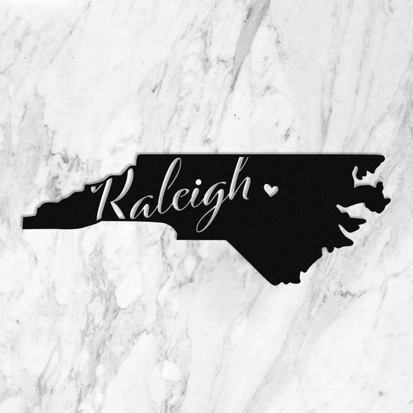 Raleigh Holiday Sale🎄🎁 regional Old Mill Steel NC Outline (23.5 Inches)
