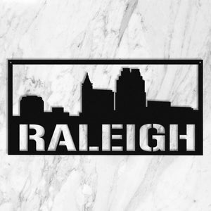 Raleigh Holiday Sale🎄🎁 regional Old Mill Steel Raleigh City Skyline (23.5 Inches)