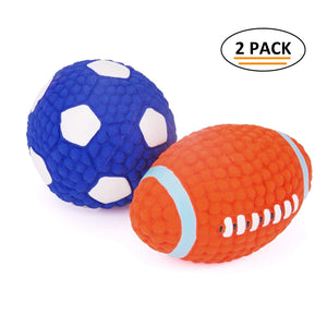 Football or Soccer Squeaky Toy