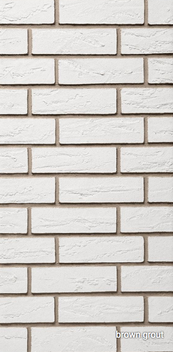Coniston White Acrylic Brick Slip - 1sqm.